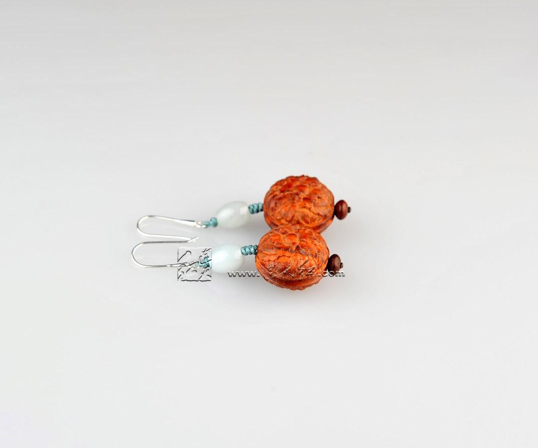 牡丹花卉纹耳饰