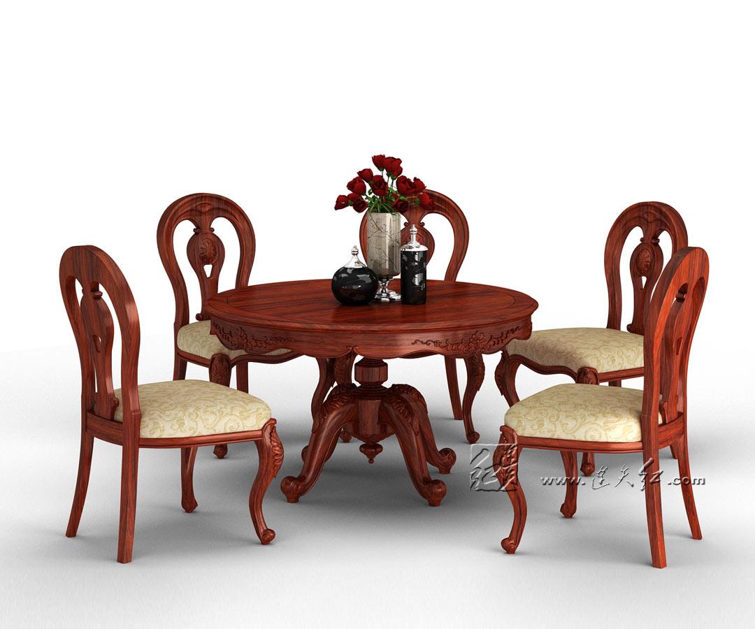 餐厅圆餐桌组合