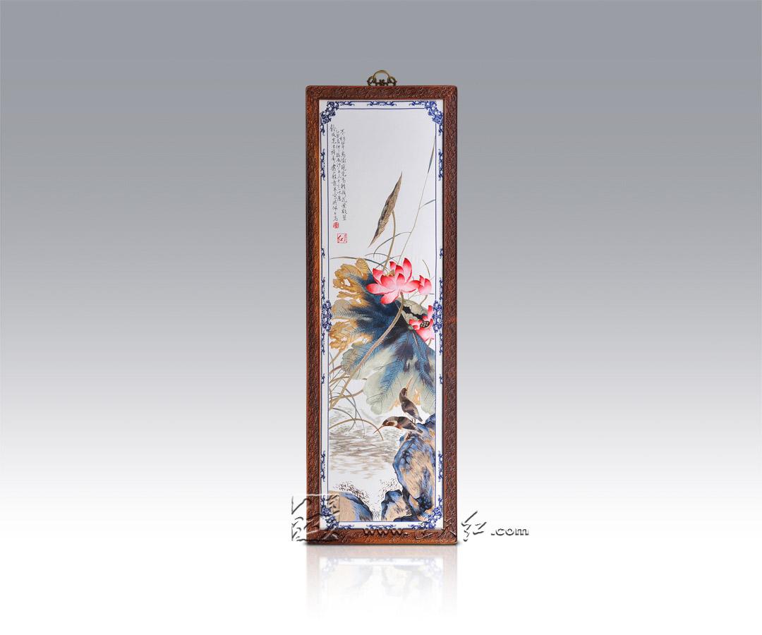 典雅系列-荷花翠鸟