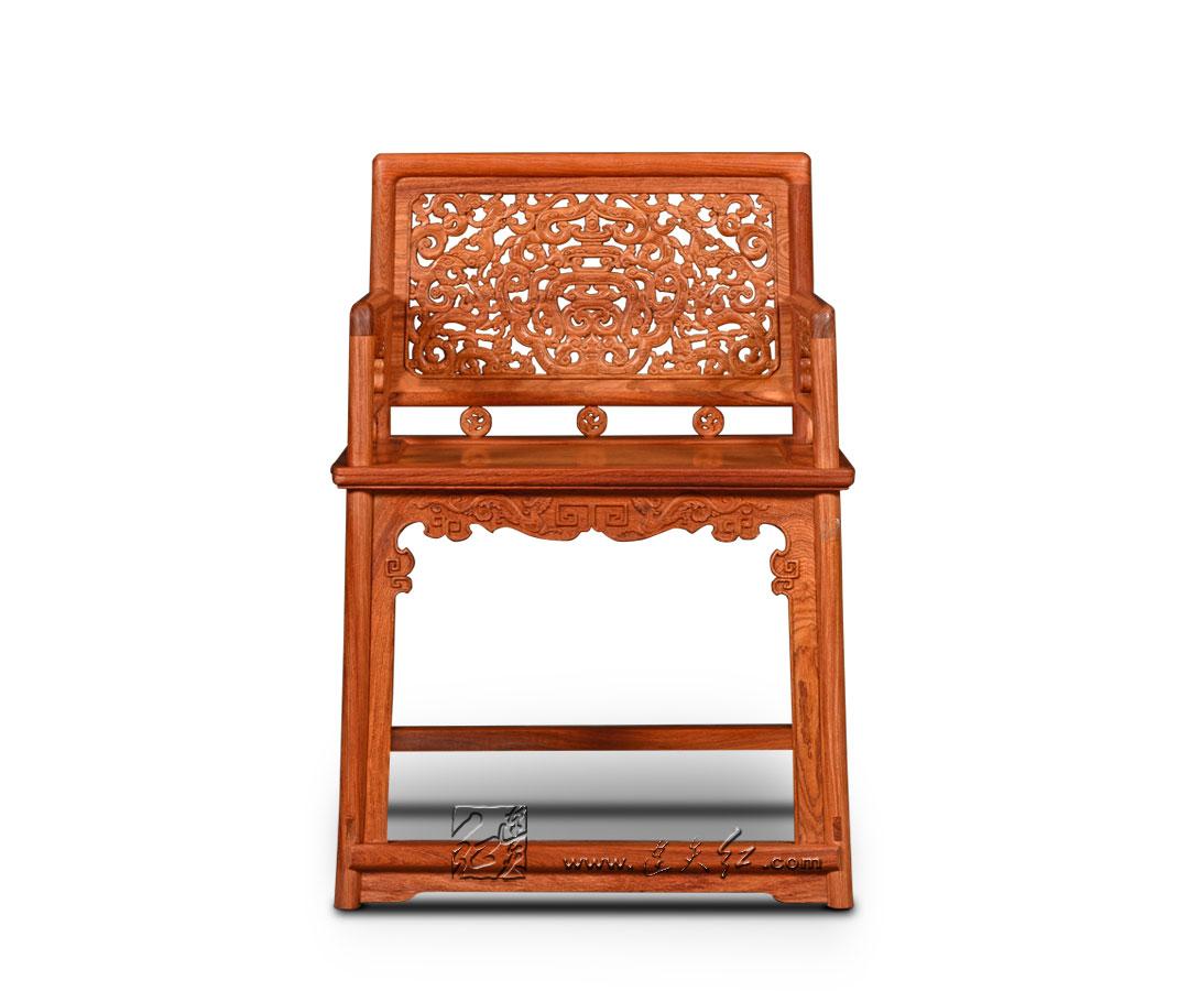 六螭捧寿纹玫瑰椅