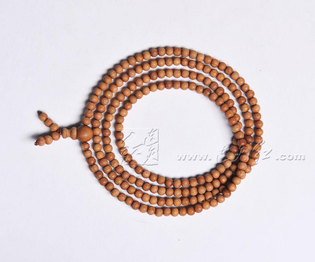 印度老山檀香佛珠手链0.4