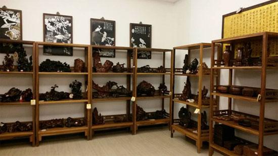 红木工艺品店铺陈列图