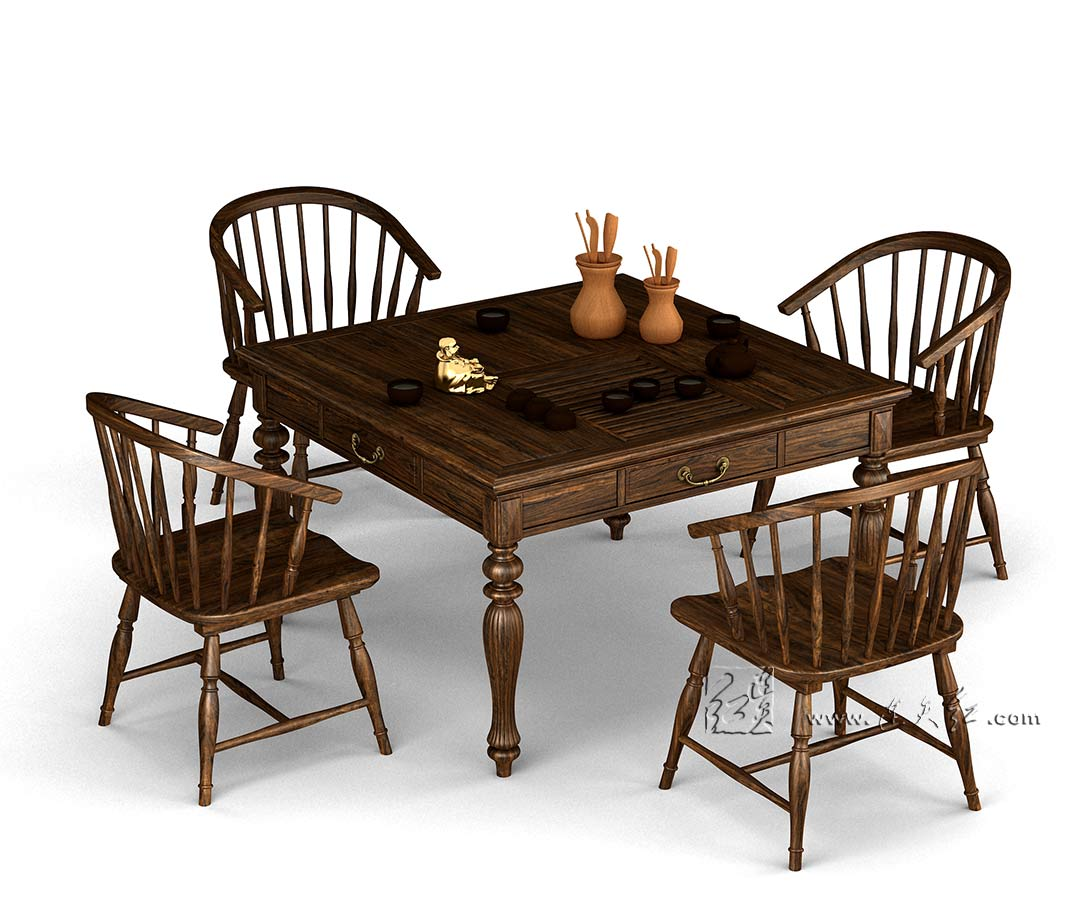 方茶桌五件套