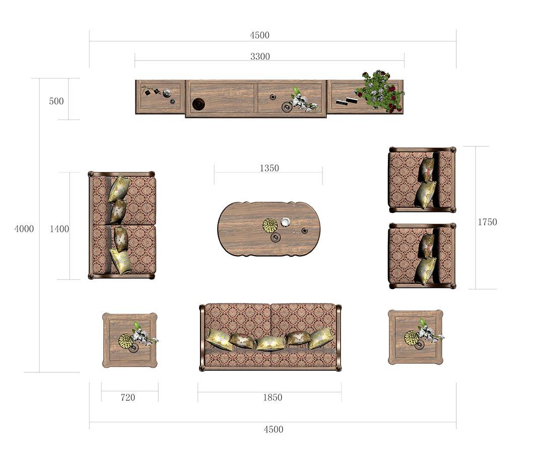 拼豆豆立体沙发图纸