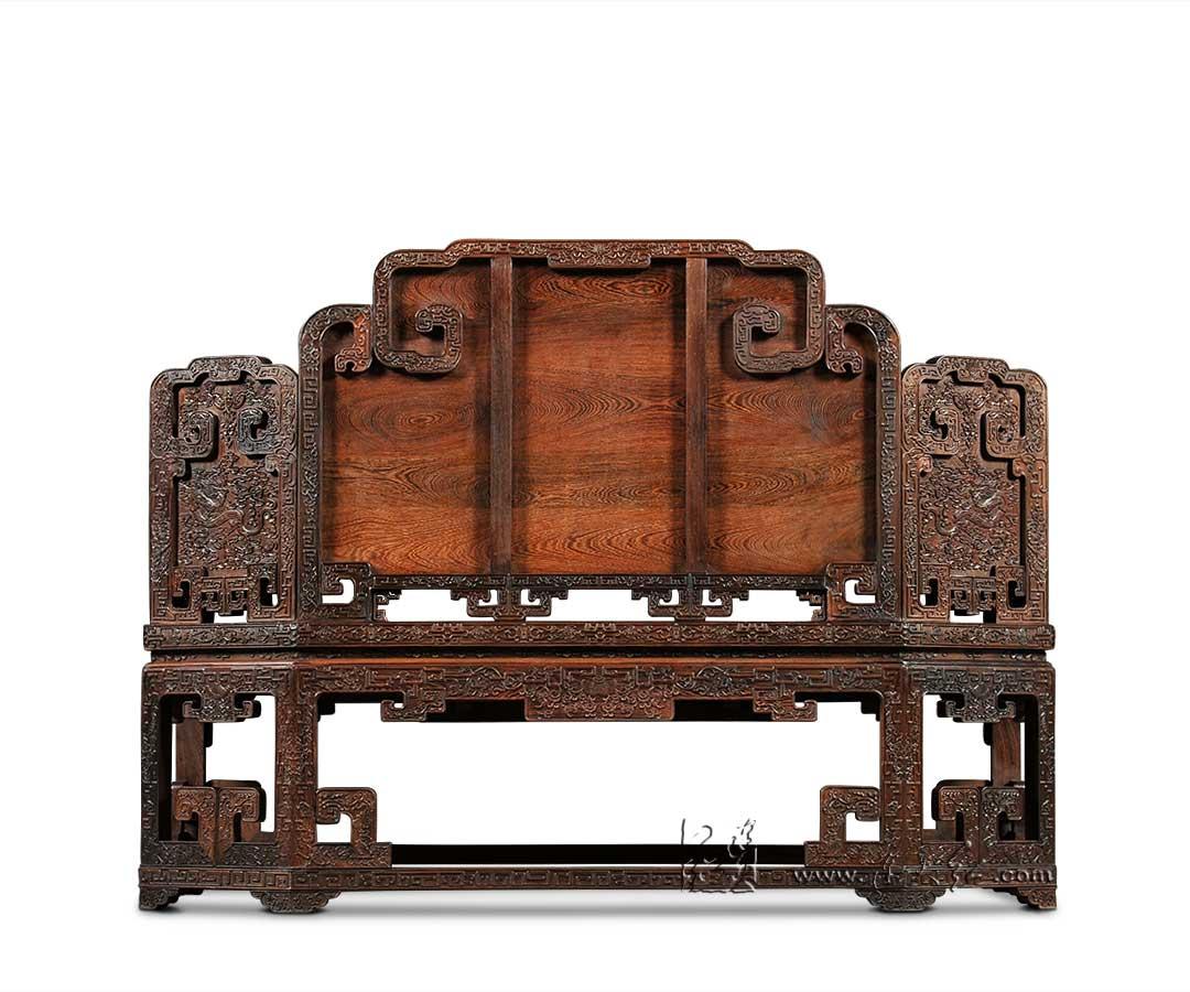 龙纹双人椅