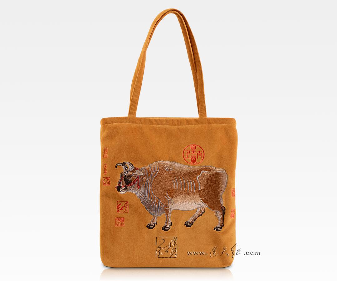 红绳牛购物袋