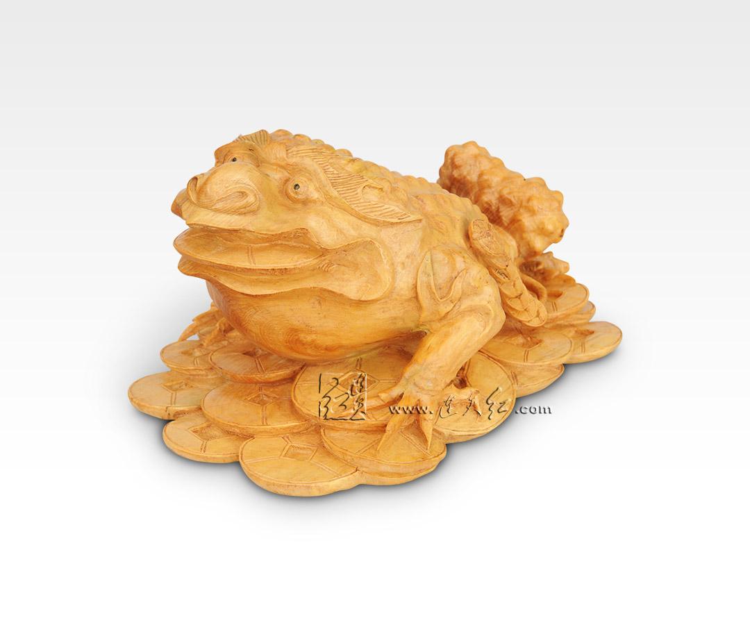 金蟾三维雕刻图