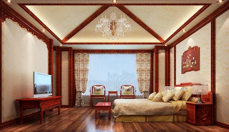 非洲紫檀和花梨木v3简装版+客厅电视背景,楼檐板,扶手,三层吊顶特殊