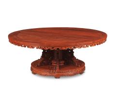 勾卷纹圆桌