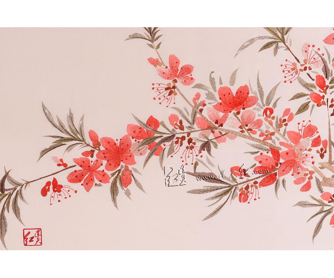 折枝红梅(真丝)