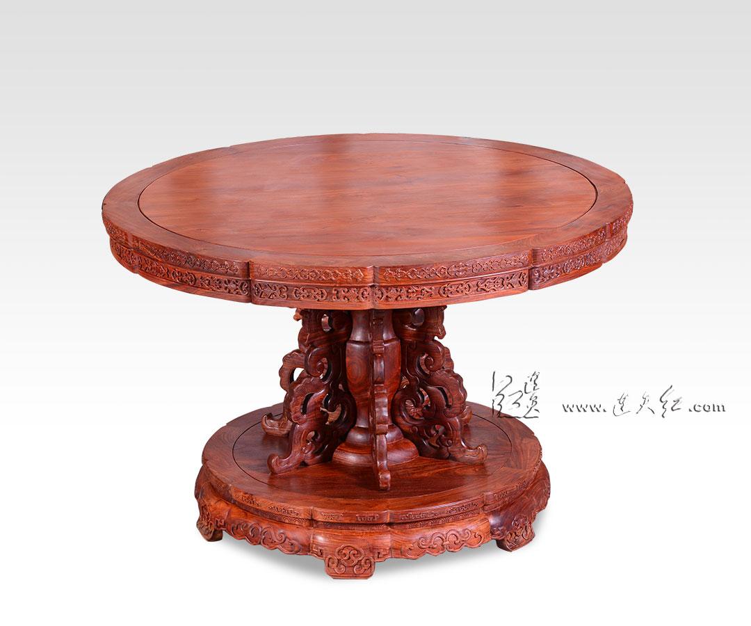 花卉纹葵花式桌