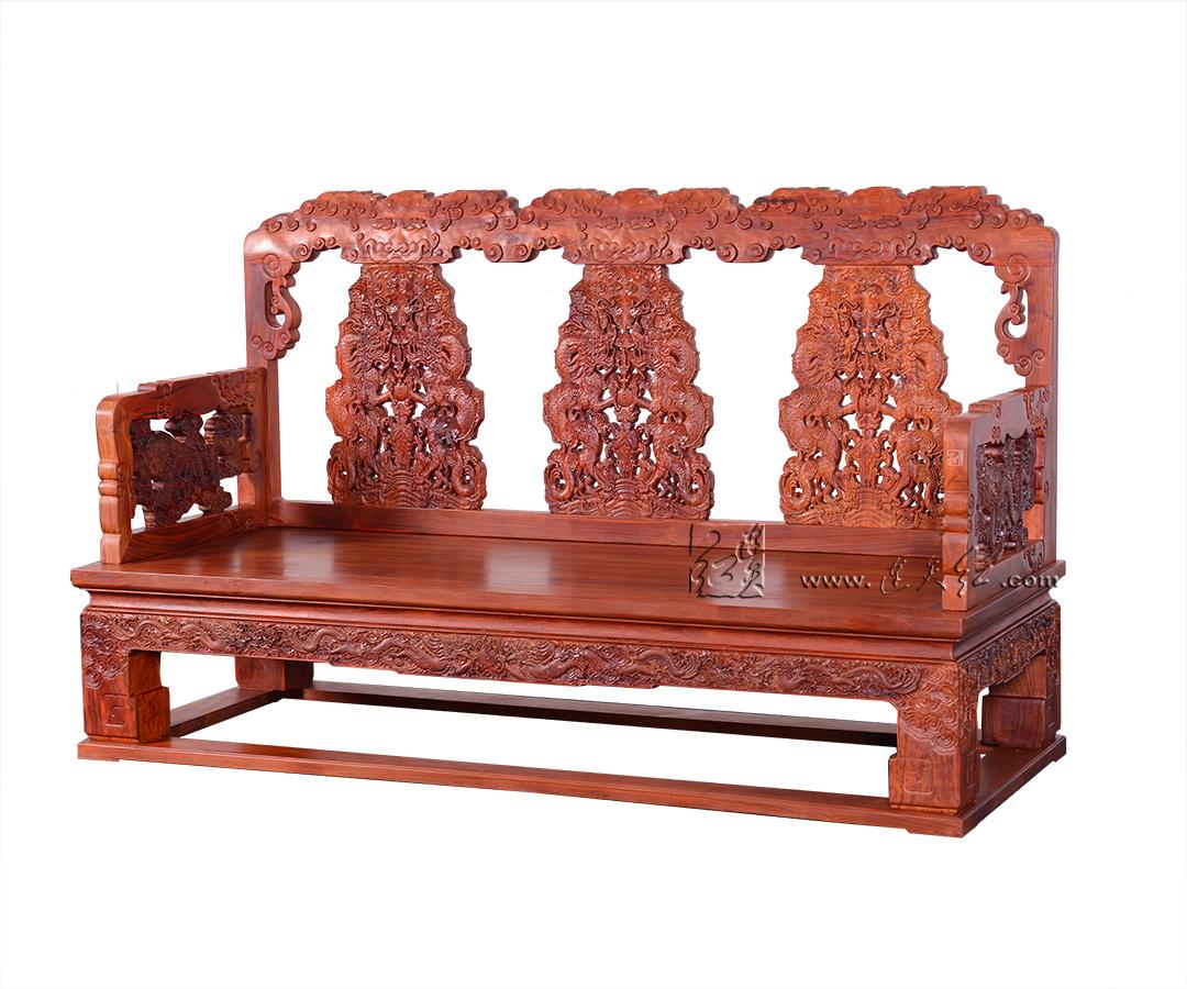 云龙纹三人椅