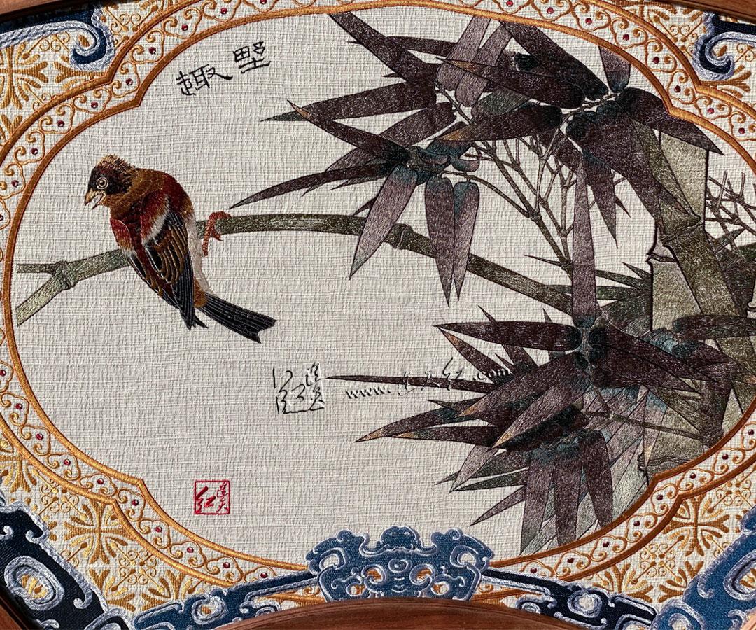鸟语枝头(麻布)